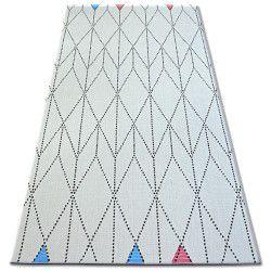 Koberec COLOR 19312/236 SISAL Diamant Trojúhelníky Bílá