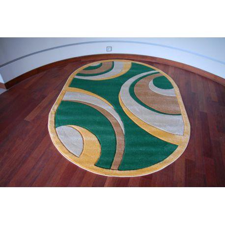 Koberec oval RUBIKON 8017 zeleny