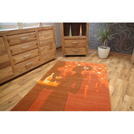 Koberec akryl TERRY oranžový