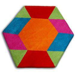 Koberec PAINT hexagon - 1550 modrý