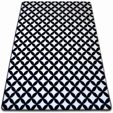 Koberec SKETCH - F757 bílá/ černá