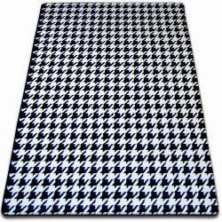 Koberec SKETCH - F763 bílá/ černá