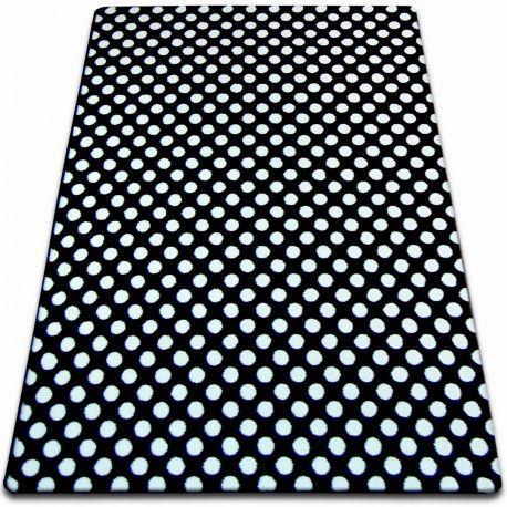 Koberec SKETCH - F764 bílá/ černá