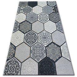 Koberec LISBOA Carpet LISBOA 27212/356 Šestiúhelník Plástev Medu Šedá