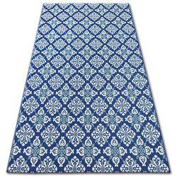 Koberec COLOR 19246/699 SISAL Květiny Modrý