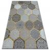 Koberec LISBOA Carpet LISBOA 11111/111 Šestiúhelník Plástev Medu žlutý