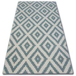 Koberec SKETCH - F998 tyrkysový/krém - čtverců