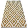 Koberec SKETCH - F998 zlato/krém - čtverců
