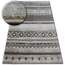 Koberec SHADOW 1835 krémová / hnědý - diamanty