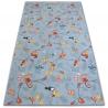 Wykładzina dywanowa dla dzieci HAPPY TREE szary SOWY SÓWKI ZWIERZĄTKA