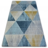 Koberec NORDIC TRIANGLE modrý/krém G4584