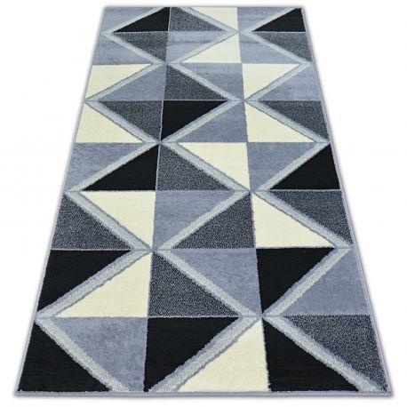 Koberec BCF BASE TRIGONAL 3974 trojúhelníky Černá/šedá