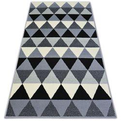 Koberec BCF BASE TRIANGLES 3813 trojúhelníky Černá/šedá