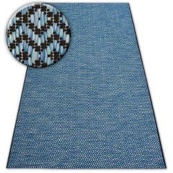 Koberec LOFT 21144 černý/stříbrný/modrý