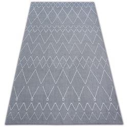 Koberec SENSE 81249 stříbrný/bílá