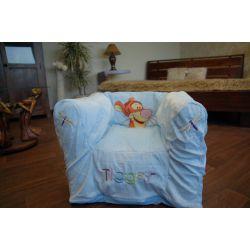 Nafukovací pouf židle pro deti DISNEY TIGER modrý