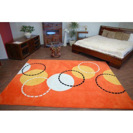 Koberec akryl PIŁKI oranžový