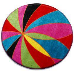Koberec PAINT kruh - 1559 modrý