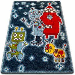 Koberec KIDS Roboty černá C419