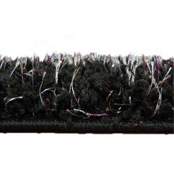 Koberec metraz SHAGGY NARIN černý krém+fialový