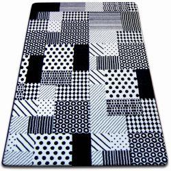 Koberec SKETCH - F760 bílá/ černá - kostkovaný