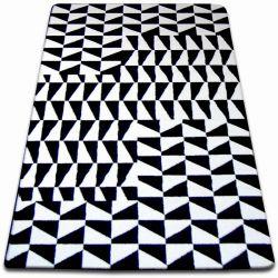 Koberec SKETCH - F765 bílá/ černá - kostkovaný