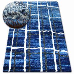 Koberec SHADOW 9359 modrý / bílá