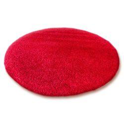 Koberec kruh SHAGGY 5cm červený
