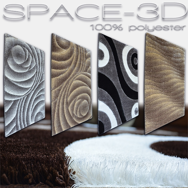 Koberce polyester shaggy Space 3D