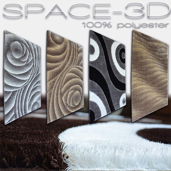 Koberce polyester shaggy Space 3D